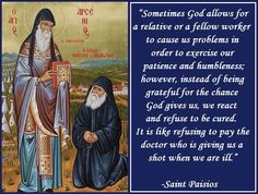 "Saint Paisios. If only we could constantly remind ourselves of these words while we are going through our ""drama"""