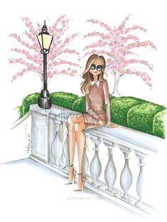 Spring | cherry blossoms | Victoria Beckham | spring trends | fashion illustration | Paris | Brittany Fuson