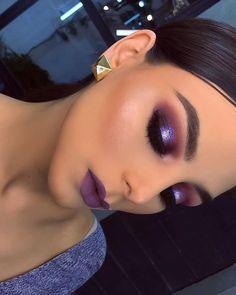 eye makeup cause red eyes makeup 2018 makeup and red lipstick eye makeup trends makeup eye shape eye makeup makeup application makeup like kim kardashian Glam Makeup, Cute Makeup, Gorgeous Makeup, Pretty Makeup, Eyeshadow Makeup, Hair Makeup, Eyeshadows, Bridal Makeup, Plum Eyeshadow