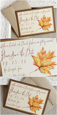 Autumn Foliage Wedding Save the Date | Sunshine and Ravioli