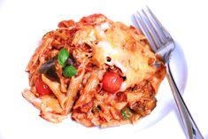 Baked Spicy Cauliflower and Eggplant Pasticcio #italianrecipes #pasta #vegan #healthy #cauliflower #eggplant #travel #casseroles #familyrecipes #easyrecipes #chefs #restaurants #italy #ragu