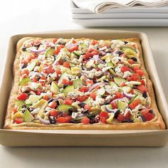 Mediterranean Hummus Pizza - The Pampered Chef®