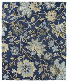 Brooklyn Hand Tufted Rectangle Area Rug - Blue (2' x 3') | Kaleen Rugs | Home Gallery Stores