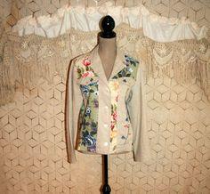 Patchwork Floral Jacket Linen Jacket Spring by MagpieandOtis