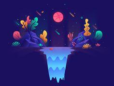 by Marwan Mouatassim Graphic Design Illustration, Digital Illustration, Graphic Illustration, Logos Tattoo, Affinity Designer, Landscape Drawings, Art Graphique, Animation, Motion Design