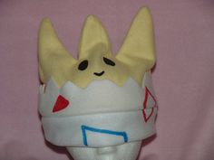 POKEMON TOGEPI inspired fleece HAT by MoonyCouture on Etsy, $25.00
