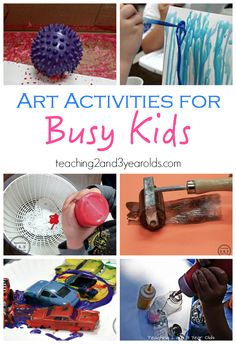 Simple art Ideas to keep busy kids engaged and entertained by Teaching 2 and 3 Year Olds