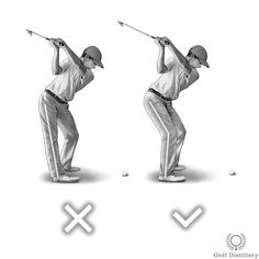 Right knee should retain some flex during the backswing