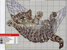 Cat kitten hammock cross stitch