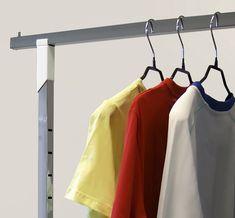 Вешала (рейлы) для одежды OMV – незаменимый элемент в любом магазине одежды. Различные конфигурации позволяют максимально выгодно преподнести товар.