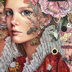 MONICA FERNANDEZ Mural Painting, Figure Painting, Portrait Art, Portraits, Trending Art, Fairytale Art, Catholic Art, Weird Art, Fantastic Art