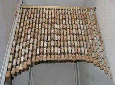 Wine cork decorative curtain