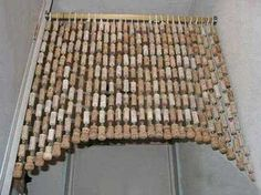 Wine cork decorative curtain