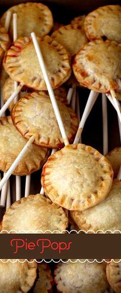 Pie Pops . . .can we talk for a moment about how cute these are????