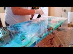 Resin pour over plexiglassKnow When To Quit (Resin Pour Tutorial)Resin over a acrylic pour, My First Time!Relaxing demo of easy abstract painting just playing around with acrylic paints from project 365 days / day Now you can purchase my first INSTRU Epoxy Resin Art, Wood Resin, Acrylic Resin, Uv Resin, Stylish Eve, Resin Countertops, Resin Pour, Resin Furniture, Acrylic Pouring Art
