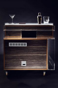 Quench Gin Trolley - serve drinks in style with this luxurious drinks trolley. Brown Interior, Best Interior, Interior Styling, Coin Bar, Drinks Trolley, Birch Ply, Mini Kitchen, Luxury Candles, Mini Fridge