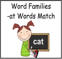 free file folder game with -at words File Folder Activities, File Folder Games, Woodland Animals Theme, Beginning Reading, Word Families, Vocabulary Words, New Words, School Fun, Early Childhood