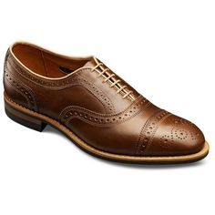 Allen Edmonds Rush Street Cap-toe Oxfords 2005 Golden Brown Chromexcel Leather