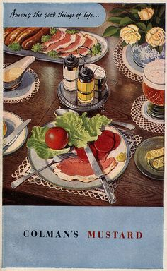 Advertisement for Colman's Mustard from the 1948 Good Housekeeping Cookbook