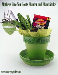 Planter and Plant Stake are the perfect gift package for your favorite green thumb (Margot Potter)