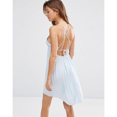 a4cf13279b Image 1 of ASOS Strappy Tie Back Smock Beach Dress Smock Dress