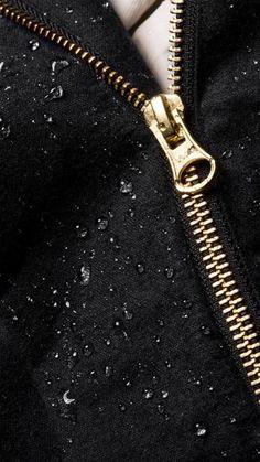 Details waterproof coat, zipper. Waterproof Coat, Zipper, Detail, Zippers