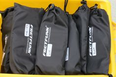 Cables are key, look after them and store them in these bags which can be labelled to quickly identify the cable type. Available in three packs at www.fretfunk.co.uk