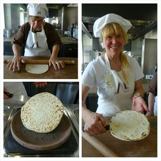 Twitter / @eatlikeagirl: Making homemade piadina in the traditional style