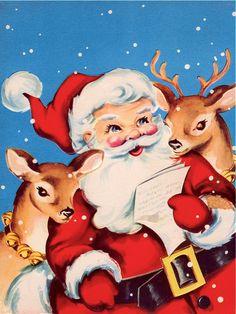Santa loves reindeer!