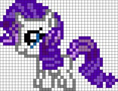 Filly Rarity My Little Pony Perler Bead Pattern / Bead Sprite