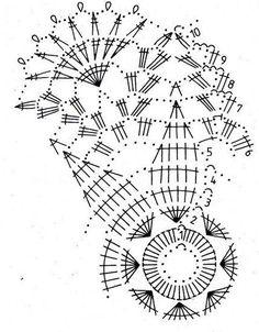 Crochet Doily Diagram, Crochet Doilies, Free Crochet, Knit Crochet, Doily Patterns, Crochet Patterns, Crochet Christmas Decorations, Fillet Crochet, Crochet Home Decor