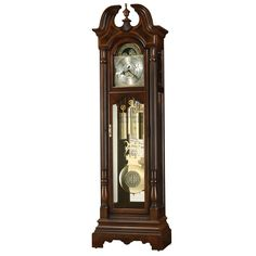 Howard Miller Bretheran Classic Grandfather Clock Style Standing Clock with Pendulum and Movements, Reloj de Pendulo de Piso (Cherry Finish), Brown (Wood) Howard Miller, Unique Home Accessories, Wholesale Furniture, Wooden Clock, Beveled Glass, Star Patterns, Polished Brass, Bordeaux, Antiques