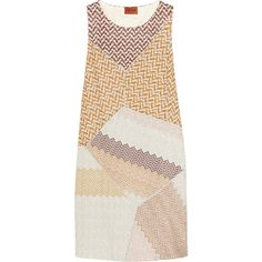 Missoni Metallic crochet-knit mini dress ($824) ❤ liked on Polyvore featuring dresses, yellow, slimming dresses, crochet knit dress, macrame dress, multi color dress and short yellow dress