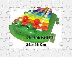 Xilofon 8 notas con ruedas en Madera  www.laranarenata.com.ar