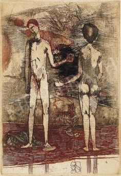 Kondor Béla - Emberpár Painting, Google, Art, Kunst, Art Background, Painting Art, Paintings, Performing Arts, Painted Canvas