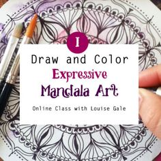 Draw and Color Expressive Mandala Art. http://louisegale.com/product/draw-and-color-expressive-mandala-art/ #mandala