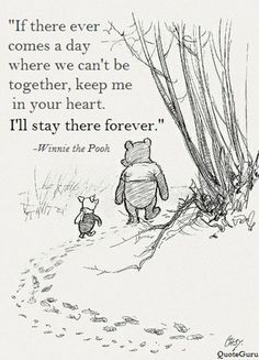 If there ever comes a day where we can't be together,keep me in your heart.I'll stay there forever.