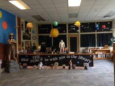 Library display at Warner ES