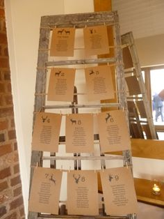 Another great idea for the table plan from Scarlett and Matt's #wedding day.