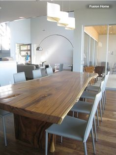 Modern Wood Dining Room Table Of worthy Modern Wood Dining Table Ideas Pictures Remodel Popular 12 Person Dining Table, Wooden Dining Tables, Dining Table Design, Table Seating, Modern Dining Table, Dining Room Table, Dining Rooms, Slab Table, Kitchen Tables