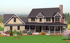 My new #1 favorite House Plan 67272 | Farmhouse   Plan with 2214 Sq. Ft., 3 Bedrooms, 3 Bathrooms, 2 Car Garage