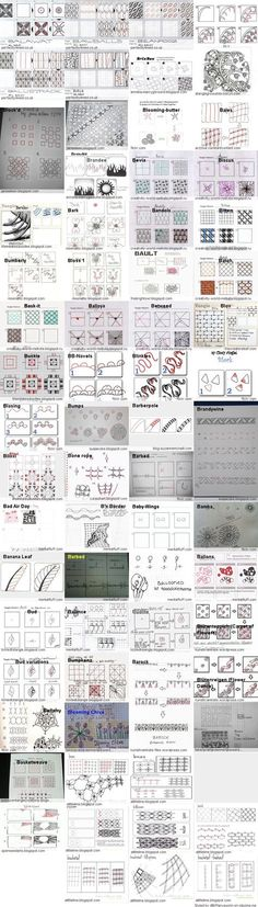 Tangle Patterns a to Z from Clipzine