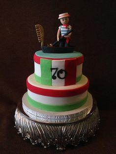 Italian themed birthday cake Vespa Rolex pizza Cakes Cakes