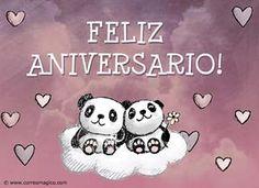 Tarjetas animadas de Feliz Aniversario para enviar y compartir gratis - Imagenes para enviar de Aniversarios de casados o de novios - CorreoMagico.com