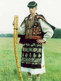 Slovakian folk  Traditional shepherds costume with fujiara.