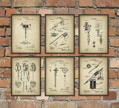 Tattoo Machine Patent Print Set Of 6 Tattoo by QuantumPrints $35