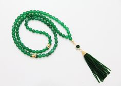Green 99 Tasbih,8mm faceted Jade beads, Green beaded Afghan Tassel, Round gold plated pendant, Tasbeeh,Misbaha,Masbaha,Rosary,Necklace by Vanilleecom on Etsy