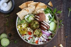 "Mediterranean Falafel Bowl with ""Tabbouleh"" Rice"