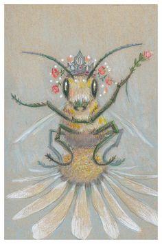 Queen Bee - Kayla Woodside by lynette Bee Illustration, Illustrations, Bee Drawing, Buzzy Bee, Bee Creative, I Love Bees, Bee Skep, Bee Art, Bee Happy