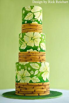 "cakelava: NEW! ""Discover Your Inner Artist"" Hibiscus Cake Class in Boston Hawaiian Theme Cakes, Luau Cakes, Gorgeous Cakes, Pretty Cakes, Amazing Wedding Cakes, Amazing Cakes, Cupcakes, Cupcake Cakes, Hibiscus Cake"